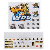 2PCS Наклейки для 1/16 WPL B-1 B16 B14 B16 B24 B36 C14 C14 C34 DIY Отличительные знаки RC Авто Запчасти
