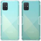 نيلكين Bumpers ناتشرال شفاف شفاف ضد الصدمات Soft حافظة تي بي يو واقية لهاتف Samsung جالاكسي A71 2019