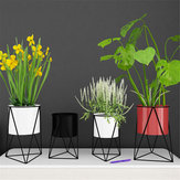 Geometrisk metal blomsterpotte Stand Chic Indendørs haveplanteholder Display Planter