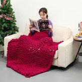 80 x 100 cm Handgemaakt Gebreide Deken Katoen Soft Wasbare niet-pluizende werpdekens