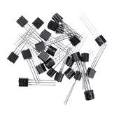 250 stuks BC547 + BC557 Elk 125 stuks BC547B BC557B NPN PNP Transistor TO-92 Power Triode Transistor Kit Bag