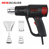 NEWACALOX 1500W Electric Hot Air Machine Temperature Adjustable 50-550 Celsius Heat Torch Power Tool with 4pcs Nozzles EU US