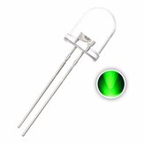 50pcs 10mm Vert Transparent LED Diode 20mA 3V 515-520nm Rond À Travers Trou Lampe Émettrice