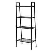 4 Tiers Wall Leaning Ladder Shelf Bookcase Bookshelf Storage Rack Shelves Storage Stand Unit Organizer for Office Home Bedroom Living Room