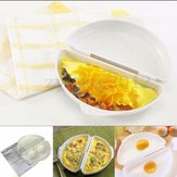 Plastic Microwave Omelet Mold Egg Boiler Egg Poach Cooking Cooker Pan Maker Kitchen Gadget