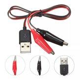 10 Stücke DANIU 60 CM Krokodil Test Clips Clamp zu USB Stecker Netzteil Kabel Draht