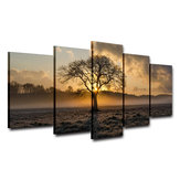 5Pcs Set Modern Canvas Print Gemälde Wand Fünf Couplets Sunrise Art Picture Home Decoration Ungerahmt
