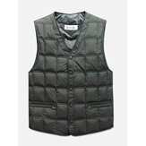 Mens Winter Middle Aged  V Neck Causal Vest