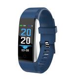 115 Plus IPS لمس شاشة سوار القميص قلب معدل دم الضغط أكسجين مراقب سليمالجسم المقتفي الوقت الفعلي مكالمة تذكير IP67 ضد للماء ذكي ساعة