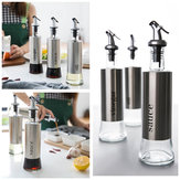 300ML Olive Oil Dispenser Bottles with Funnel Stainless Steel Oil Pourer Dispensing Bottles Oil Vinegar Sauce Bottle