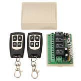 4CH 200M Wireless Remote Control Relay Switch Receiver + 2 Transceiver 4 Channel 12V DC untuk Smart Home