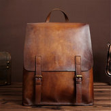 Men Women Genuine Leather Backpack Shoulder School Bag Laptop Rucksack Handbag