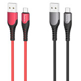 HOCO U80 Cool Silicone Zinc Alloy 1.2M Type-C Micro USB Fast Charging Data Cable for Samsung S10+ Note8 LG HUAWEI