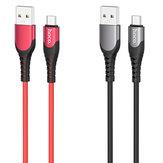 HOCO U80 Cool Silicone Liga de zinco 1,2M Type-C Micro USB Cabo de dados de carregamento rápido para Samsung S10 + Note8 LG HUAWEI
