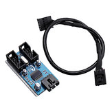 9Pin USB Header Erkek 1 ila 2 Kadın Uzatma Splitter Kablo 9 Port Çarpan Kurulu