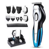 11 в 1 электрическая бритва для стрижки волос Волосы Бритва Триммер перезаряжаемый USB Волосы обрезной станок с 4 ограниченными расчески