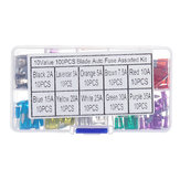 100pcs Mini Auto Fuse 10 Value Car Fuse Blade Kit Assortiment avec Box 2A 3A 5A 7.5A 10A 15A 20A 25A 30A 35A Chaque 10pcs