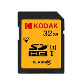 Tarjeta de memoria SD KODAK U1 U3 Soporte de clase 10 1080P HD 32GB 64GB Tarjeta de memoria SDHC de 128 GB para SLR digital / HD Cámara
