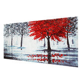 Red Forest Canvas Modern Home Wall Decor Art Paintings Picture Print Senza cornice