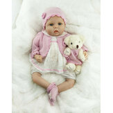 NPK 55 СМ Ручной Работы Soft Силиконовый Реалистичная Девочка Кукла Reborn Baby Кукла для Детей На День Рождения Рождественский Подарок