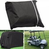 Couverture de chariot de voiture de golf pour passagers 4 places avec fermeture à glissière