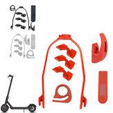 Kit de inicio de protección de soporte de guardabarros con impresión de 7 piezas, accesorios de scooter, juegos de piezas de repuesto para