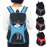 Portable Cat Dog Pet Double Shoulder Mesh Bag Backpack Travel Carrier Case Pouch