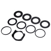 10 in 1 Lens Filter Adapter Holder with 49/52/55/58/62/67/72/77/88mm Lens Adapter Ring