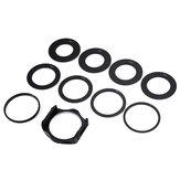 Uchwyt adaptera filtra obiektywu 10 w 1 z pierścieniem adaptera obiektywu 49/52/55/58/62/67/72/77 / 88mm