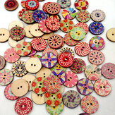 100Pcs Retro Wooden Sewing Buttons DIY Craft Bag Hat Clothes Decoration Sewing Button