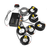 12V HID Bulbs Hide Away Emergency Hazard Warning Flash Strobe Light System Kit