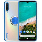 Bakeey Plating Transparent Ultra-thin with Finger Ring Holder Shockproof PC Protective Case for Xiaomi Mi A3 / Xiaomi Mi CC9e Non-original