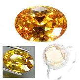 10 x 14 mm Gema de zafiro amarillo Forma ovalada Juego de joyas de piedras preciosas sueltas Regalos US