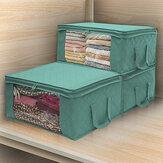 غير المنسوجة الفضاء التوقف الملابس لحاف بطانية حقيبة تخزين مربع منظم المحمولة