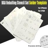 16Pcs/Lot IC  Card Chip BGA Reballing Stencil Kits Set Solder Template for Iphone X 8 7 6s 6 Plus SE 5S 5C 5 4S 4 IPad High Quality