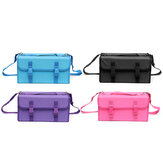 120 Slots Marker Pen Storage Carrying Case Portable Bag Holder Adjustable Strap Covenient Sticker Design