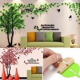 Árvore 3D bonita DIY Espelho Decalques em parede Adesivos Art Home Room Vinyl Decor Adesivo de parede