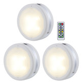 3 Pcs 4000K LED Puck Light Chen Sob o armário do contador de luz