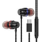 PTM M4 Mtal Bass سماعات أذن سلكية مراقبة Type-C سماعات أذن مع مايكروفون