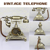 Vintage Antique Style Old Phone Retro Push Button Rotation Dialing Dial Téléphone Téléphone Feature Phone