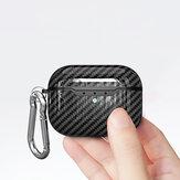 Bakeey Armazenamento de fone de ouvido à prova de choque ultra-fino de fibra de carbono Caso para Apple Airpods 3 Airpods Pro