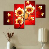 4PCS Modern Abstract Oil Pinturas Flores Enorme Decoración de pared Arte en lienzo Sin marco