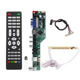 T.SK106A.03 Universele LCD LED TV Controller Driver Board TV / PC / VGA / HDMI / USB + 7 Key Button + 1ch 6bit 30 LVDS Kabel