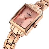 SKMEI1407Montreàquartzavec bracelet en acier inoxydable et étanche