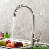 キッチン蛇口360回転ステンレス鋼ホットとコールドシンクの蛇口ミキサー水タップスパウト盆地デッキマウントクレーン用キッチン