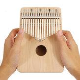 17 Tuşları DIY Boyama Çam Ahşap Kayın Ağacı Kalimbas Ayarlama ile Başparmak Piyano Parmak Perküsyon Hammer