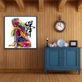 Miico dipinti a mano Olio dipinti astratti Colorful Bud-dha Head Wall Art per la decorazione domestica