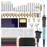 72pcs Wood Burning Pen Set Tips Stencil Soldering Tools Pyrography Crafts Kit Soldering Iron Kit
