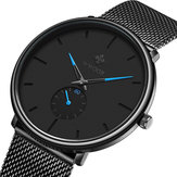 WWOOR 8855 Waterproof Ultra Thin Mesh Steel Men Wrist Watch