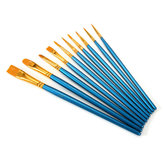 10Pcs Nylon Hair Artist Paint Brushes Set Kit Lot Oil Watercolour Art Oil Acrylic Painting Brush Pens Craft